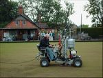 Bowling green aeration