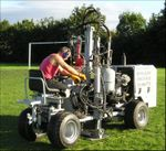 Dudley metroplitan council football pitch aeration