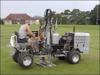 Cricket square aeration