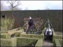 Sissinghurst garden yew hedges