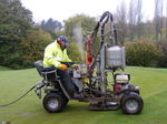 scaping aerating greens at sitwell park golf club