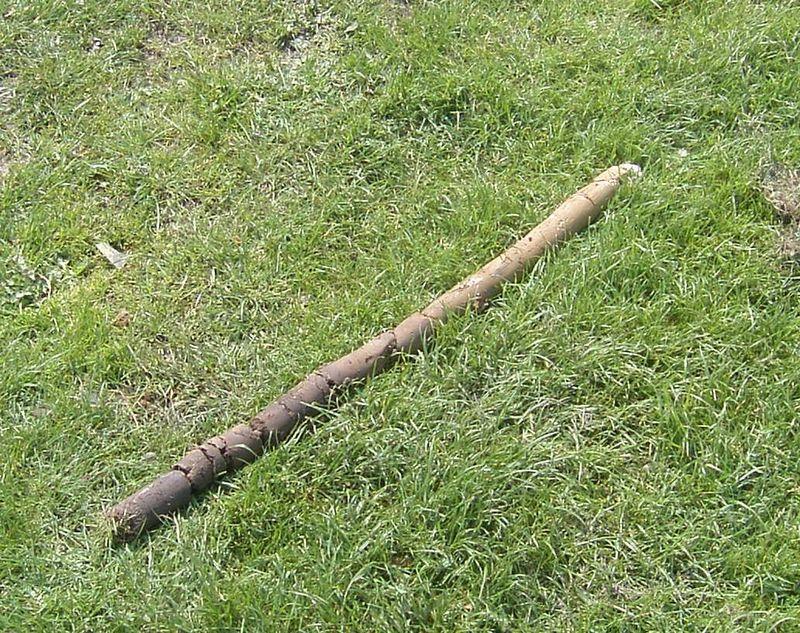Soil core sample