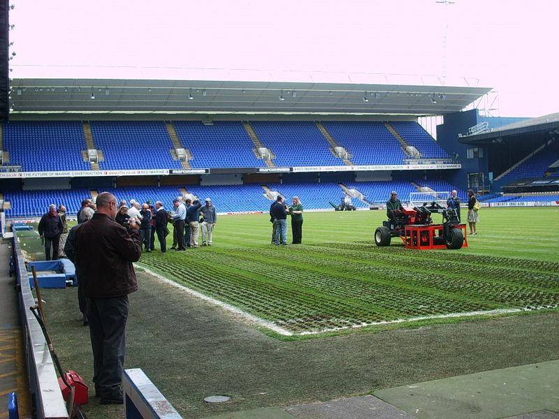 Aeration and decompaction of ipswich town football club football pitch