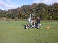aeration of golf greens at basingstoke golf greens